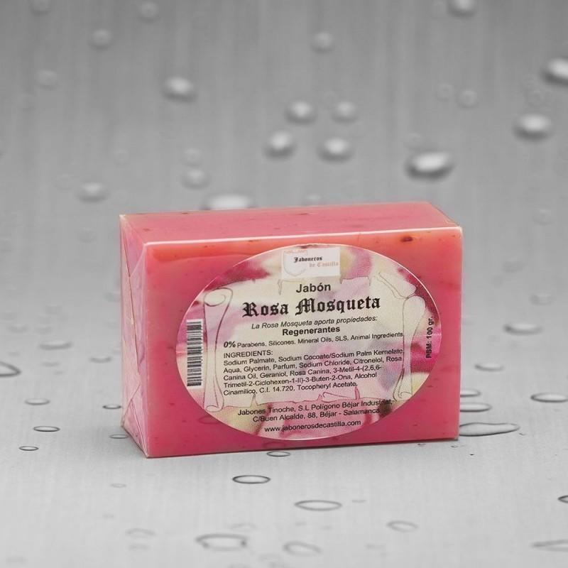 Jabón Tocador Pastilla Rosa Mosqueta